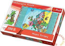 Trefl Európa térkép 200 db-os (15503)