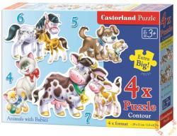 Castorland Állatok kicsinyei 4-5-6 és 7 db-os sziluett puzzle (04218)