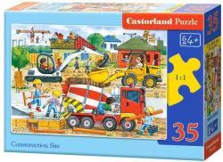 Castorland Építkezés munkagépekkel 35 db-os (B-035069)