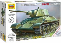 Zvezda T-34/76 mod. 1943 Soviet Medium Tank 1/72 5001