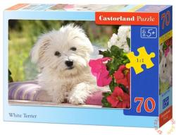 Castorland Fehér terrier kutyus 70 db-os (B-007165)