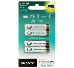 Sony AAA CycleEnergy 900mAh (4) NH-AAA-B4G