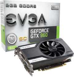 EVGA GeForce GTX 960 Superclocked 2GB GDDR5 128bit PCIe (02G-P4-2962-KR)