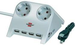 brennenstuhl 2 Plug + 4 USB (1153520122)