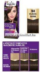Palette Intensive Color Creme N4 Világosbarna Krémhajfesték