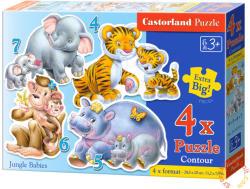 Castorland A dzsungel kicsinyei 4, 5, 6 és 7 db-os sziluett puzzle