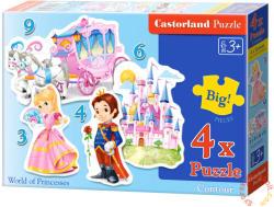 Castorland A hercegnők világa 3, 4, 6 és 9 db-os sziluett puzzle