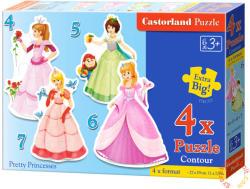 Castorland Csinos hercegnők 4, 5, 6 és 7 db-os sziluett puzzle