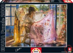 Educa Rózsaszín kendő - Vincente Romero 2000 db-os (16314)