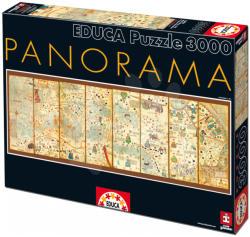 Educa Panoráma puzzle - Világtérkép 1375 - 3000 db-os (16355)