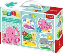 Trefl Baby Puzzle - Első kirakóm: Tengeri állatok (36055)