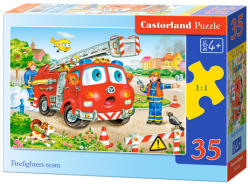Castorland Tűzoltók létrás autóval 35 db-os (B-035106)
