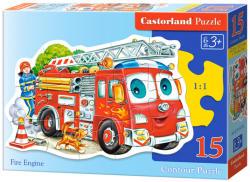 Castorland Tűzoltó autó 15 db-os sziluett puzzle (B-015078)