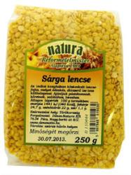 Natura Sárga lencse (250g)