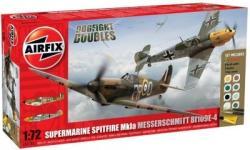 Airfix Dogfight Doubles Messerschmitt Bf-109F4 and Spitfire Mk.Vb 1/48 AF50014