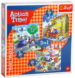 Trefl Mentőcsapatok akcióban 3 az 1-ben puzzle (34808)