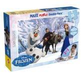 Lisciani Disney Jégvarázs Olaf és barátai - Maxi Kétoldalas színezhető puzzle - 35 db-os