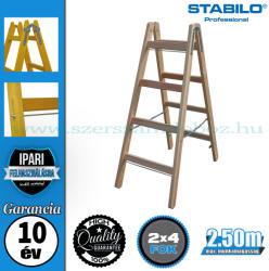 KRAUSE Stabilo két oldalon járható fa állólétra 2x4 fokos, profi (170064)