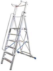 KRAUSE Stabilo lépcsőfokos állólétra nagy dobogóval és kapaszkodókerettel 14 fokos, profi (127587)