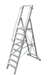 KRAUSE Stabilo lépcsőfokos állólétra nagy dobogóval 10 fokos, profi (127808)