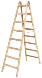 KRAUSE Stabilo két oldalon járható fa állólétra 2x8 fokos, profi (170101)