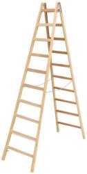KRAUSE Stabilo két oldalon járható fa állólétra 2x10 fokos,profi (170125)