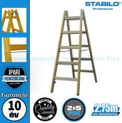KRAUSE Stabilo két oldalon járható fa állólétra 2x5 fokos, profi (170071)