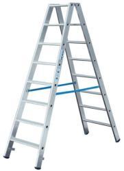 KRAUSE Stabilo két oldalon járható lépcsőfokos létra 2x8 fokos, profi (124760)
