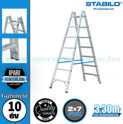 KRAUSE Stabilo két oldalon járható biztonsági létra 2x7 fokos, profi (124913)