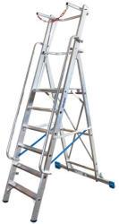 KRAUSE Stabilo lépcsőfokos állólétra nagy dobogóval és kapaszkodókerettel 6 fokos, profi (127501)