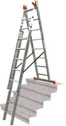 KRAUSE Monto Tribilo létrafokos sokcélú létra 3x12 fokos lépcsőfunkcióval, félprofi (121257)