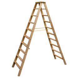 KRAUSE Stabilo lépcsőfokos falétra 2x10 fokos, profi (818270)