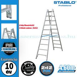 KRAUSE Stabilo két oldalon járható biztonsági létra 2x12 fokos, profi (124944)