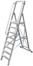 KRAUSE Stabilo lépcsőfokos állólétra nagy dobogóval 8 fokos, profi (127785)