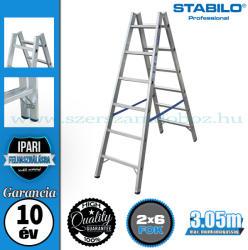 KRAUSE Stabilo két oldalon járható biztonsági létra 2x6 fokos, profi (124906)