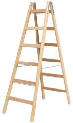 KRAUSE Stabilo két oldalon járható fa állólétra 2x6 fokos, profi (170088)