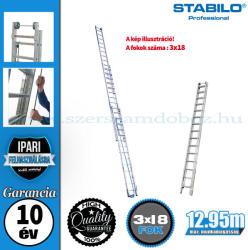 KRAUSE Stabilo háromrészes húzóköteles létra 3x18 fokos, profi (810021)