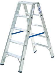KRAUSE Stabilo két oldalon járható lépcsőfokos létra 2x7 fokos, profi (124753)