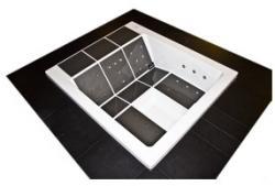Portcril Lounge Concept II besüllyesztett kivitel PPB-LC2