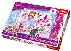 Trefl Magic Decor - Disney Szófia hercegnő 15 db-os foszforeszkáló puzzle (14611)