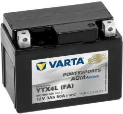VARTA Powersports AGM 12V 3Ah jobb YTX4L-BS