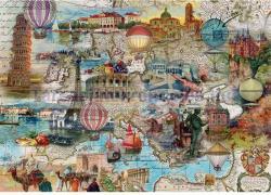 Schmidt Spiele Európai utazás hőlégballonnal 1000 db-os