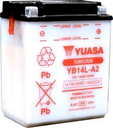 YUASA Yumicron 12V 14Ah jobb YB14L-A2