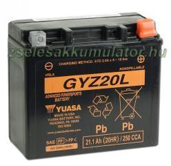 YUASA AGM 12V 20Ah jobb GYZ20L