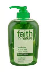 Faith in Nature Bio aloe vera és teafa folyékony kézmosó (300 ml)