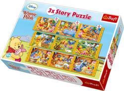 Trefl 3xStory Puzzle Micimackó