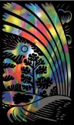 Reeves Szines képkarcoló, mini - Szivárvány