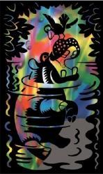 Reeves Szines képkarcoló, mini - Hippo