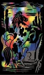 Reeves Szines képkarcoló, mini - Ágaskodó ló