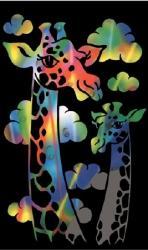 Reeves Szines képkarcoló, mini - Zsiráf